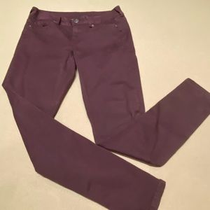 Maurices jeggins burgundy size Sm-R